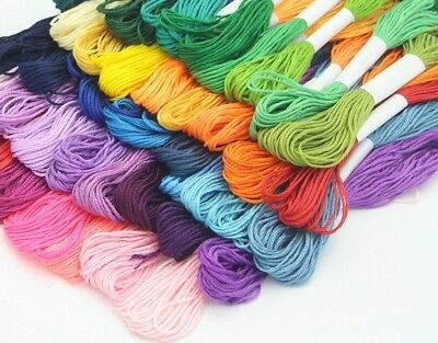 Stranded Cotton Embroidery Thread - Grouped Colours - 10 Pieces