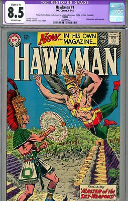 Hawkman #1 CGC GRADED 8.5 - first Silver Age title