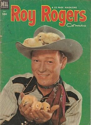 1953 Issue  # 65 Roy Rogers Photo Cover Western Dell Vintage Comic Book 10 Cent
