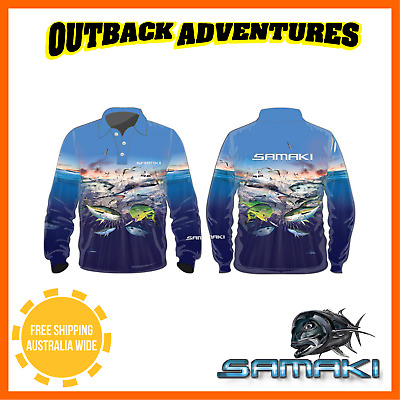 Samaki Bluewater Long Sleeve Fishing Shirt - Adult Size - M - Medium
