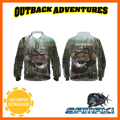 Samaki Dusky Flathead Long Sleeve Fishing Shirt - Adult Size -  L - Large