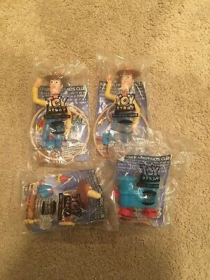 Lot Of 4 Burger King Kid's Club Meal Toys Toy Story New In Packages
