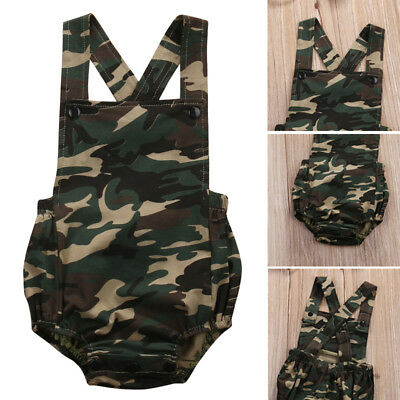 Summer Newborn Baby Boys Girls Romper Jumpsuit Backless Sleeveles Clothes Outfit