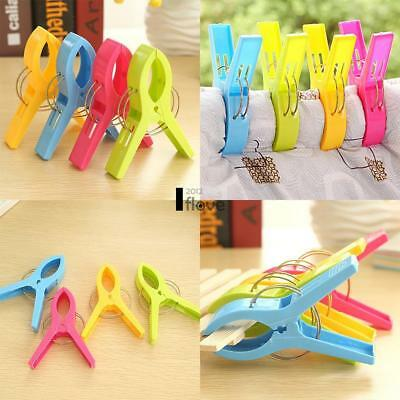 4 Pcs Large Plastic Beach Towel Pegs Bedclothes Quilt Clips Tools Home ILOE
