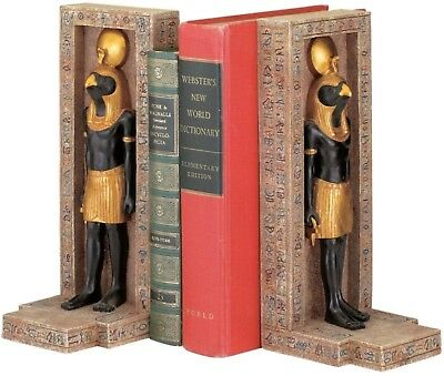 Book End Bookends Horus Falcon Ancient Egypt Egyptian God of the Sky Deity Decor
