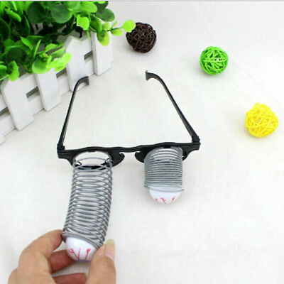 Pop Out Eye Dropping Eyeball Glasses Horror Scary Jokes Toy for Adult Kids Gift