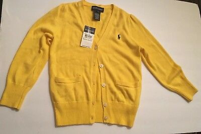 NWTRalph Lauren 100% cashmere Boys 4T Cardigan Cable Knit Org Price $45