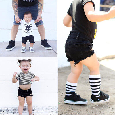 Toddler Kids Baby Boy Girl Hole Jeans Shorts Pants Clothes Summer Hot Pants 0-5Y