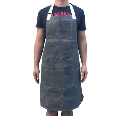 Waxed Canvas Heavy Duty Workshop Apron Utility Tool Aprons Multi-function...