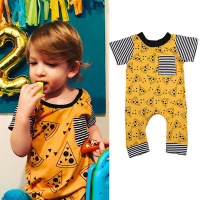 Newborn Infant  Baby Girls Boys Cookies Print One-piece Romper Sunsuit Outfits