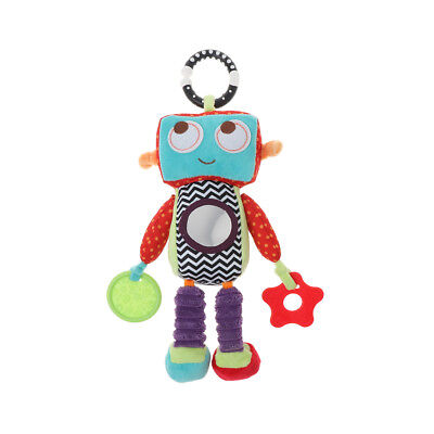 Robot Rattle Plush Musical Baby Car Bed Handing Toy Early Educational Toys Doll