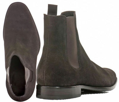 Men Handmade Suede Leather Shoes Jodhpurs High Ankle Chelsea Suede Leather Boots