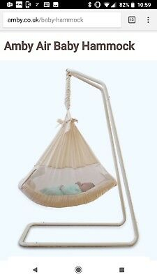 amby natures nest natural baby bed hammock with travel bag amby baby hammock cream frame and mattress     50 00   picclick uk  rh   picclick co uk