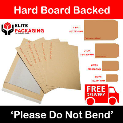 A4 Size Please Do Not Bend Cheap Hard Card Board Backed Manilla Envelopes Brown