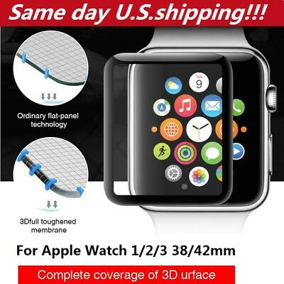Apple Watch 44mm 40mm 42mm 38mm Tempered Glass Full Cover 3D Screen Protector