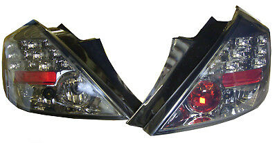 For Vauxhall Corsa D 3Dr 2006-14 Back Rear Tail Lights Smoked LED Pair Black