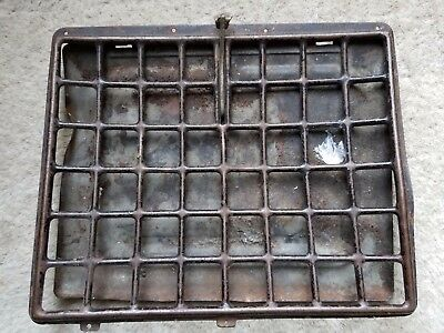 "Vintage Antique Metal Grate Register Or Grill Salvaged Vent 10"" x 8 1/2"" Old"