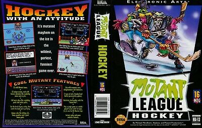 Mutant League Hockey Sega Mega Drive PAL Replacement Box Art Case Insert Cover