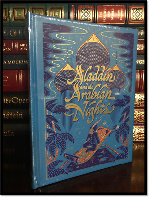 Aladdin & the Arabian Nights New Sealed Leather Bound Illustrated Gift Hardback