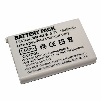 EN-EL5 Battery 1600mAh For Nikon Coolpix P4 P80 P90 P100 P500 P510 P5000 P6000