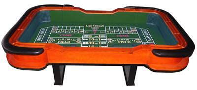 """93"""" Craps Table, dice rubber on both ends -  green or blue replacable felt"""