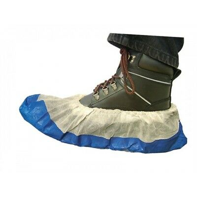 Quality Disposable Blue Anti Slip Shoe Covers Cleaning Overshoes Protective UK
