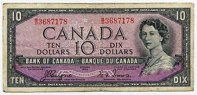 1954 Bank of Canada $10 - Devil's Face Note B/D3687178