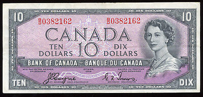 1954 Bank of Canada $10 - Devil's Face Note B/D0382162