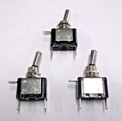 3 BBT Brand Lighted Amber 12 volt 20 amp LED Toggle Switches