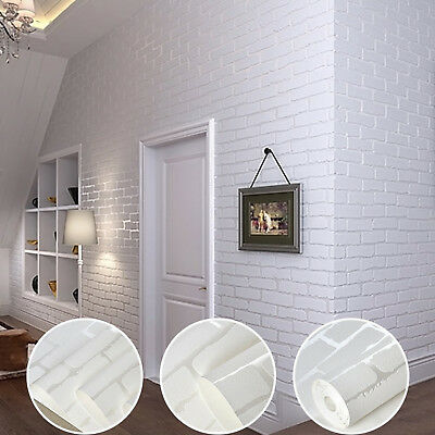 Brick Wallpaper Self Adhesive Wall Stick Peel 3D Roll Removable Background Decor