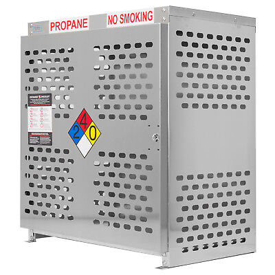 Aluminum 12 Cylinder Vertical Tank Propane Cage