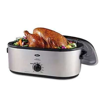 Oster 20qt Stainless Steel Roaster Oven w/ Self-Basting High-Dome Lid (Open Box)