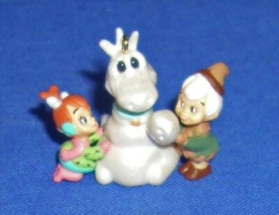 Hallmark Miniature Ornament Flintstones Pebbles and Bamm Bamm 1995 Dino Dinosaur