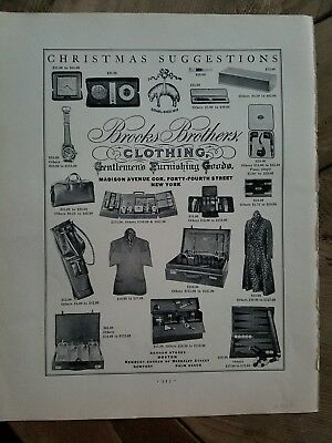 1930 vintage Brooks Brothers clothing Christmas suggestions vintage gift ad