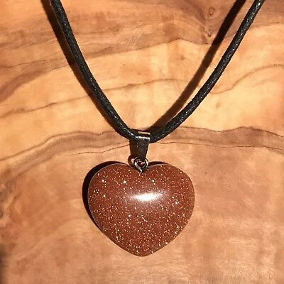 """Red Goldstone Crystal Angel Pendant 25mm with 20/"""" Silver Necklace Luck Magical"""
