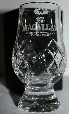Bowmore  Islay Crest Glencairn Cut Crystal Scotch Malt Whisky Tasting Glass