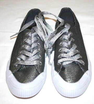 New Mossimo Supply Co. Size 6 Glitter Sneakers Silver June Womens Target  Shoes 914296804fcd