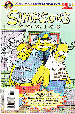 SIMPSONS COMICS 39...NM-...1998...Great Comic!...Bargain!