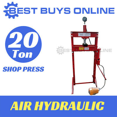 Shop Press 20 Ton Air Hydraulic include Gauge Foot Pedal Sliding head Right-Left