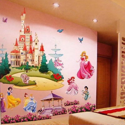 3D Princess Castle Wall Stickers Decal DIY Art Mural Removable Home Room Decor