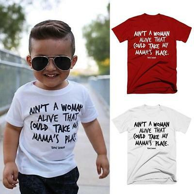 New Child Letter Print Kids Funny T shirt For Children Top Tee Clothes UK