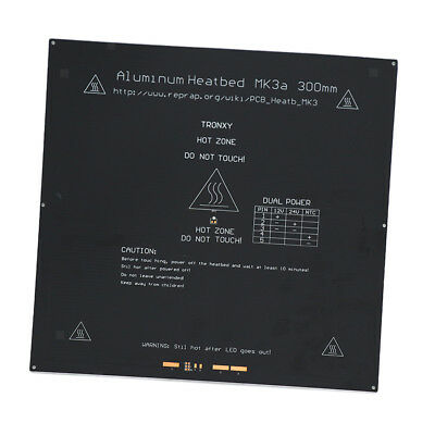 300x300x3.0mm PCB Aluminum Heatbed MK3 Heated Bed for 3D Printer