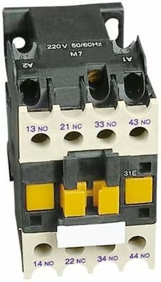 RS Pro 4 Pole Contactor 25A 230V Coil AC AC1 4NO Din Rail Mount Normally Open