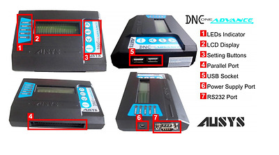Compact DNC USB READER for CNC machines-USB to RS232, FANUC paralell converter.
