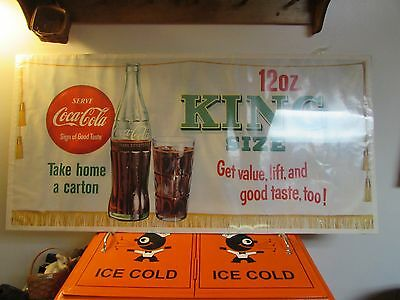 Vintage Coca Cola Poster 1958 King Size Coke * Get value, lift, and good taste