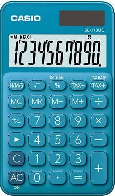 Casio My Style Blue Extra Large 10 Digit LCD Display Handheld Pocket Calculator