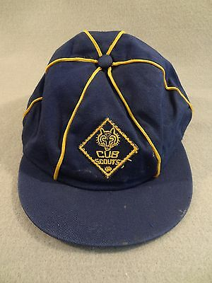 Vintage Boy CUB SCOUTS OF AMERICA BSA Ball Cap HAT Size 6 7/8