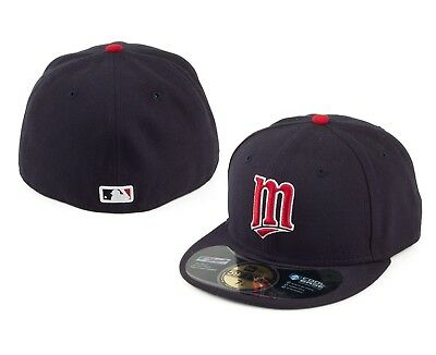 online retailer 89249 cf3b5 New Era 59FIFTY 5950 MINNESOTA TWINS Authentic Alternate ON FIELD Fitted  Hat Cap