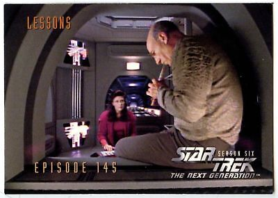 Lessons #592 Star Trek Next Generation Season 6 Fleer 1997 Trade Card (C1028)