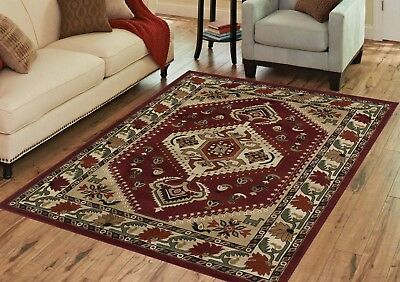 Durable /& Clean Contemporary RED Mirage Collection Area Rug by Benissimo Soft